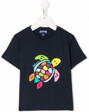 Темно-синяя футболка Vilebrequin Kids