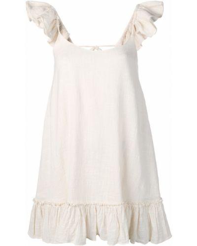 Платье мини с открытой спиной с баской Sundress