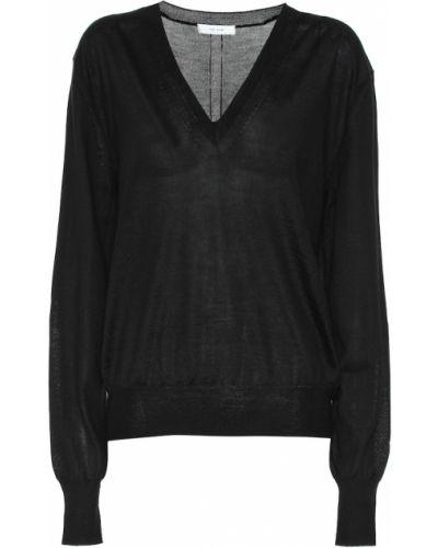 Кашемировый черный свитер The Row