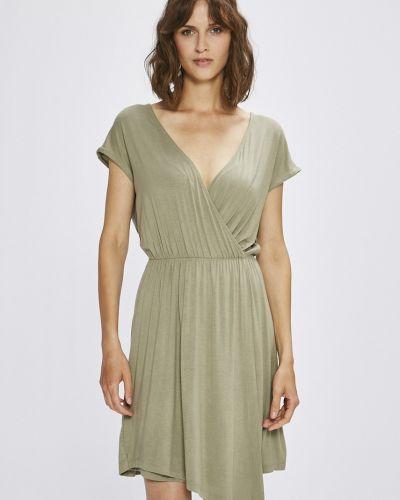 Платье мини с запахом с вырезом Answear