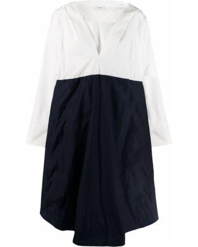 Хлопковое белое платье макси с капюшоном Dorothee Schumacher
