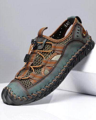 Черные кожаные сандалии Newchic