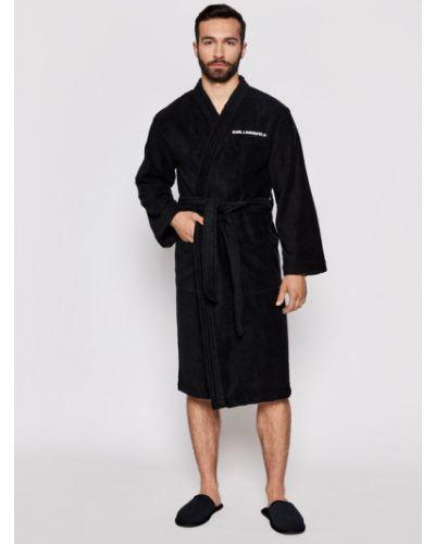 Czarny szlafrok Karl Lagerfeld