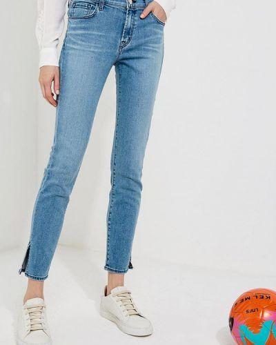 Голубые джинсы-скинни J Brand