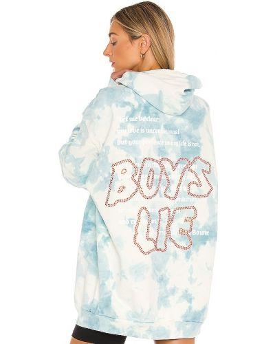 Niebieska bluza z haftem bawełniana Boys Lie