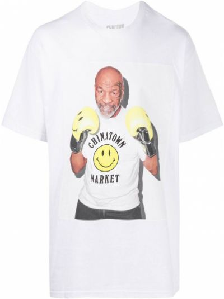 Хлопковая футболка - белая Chinatown Market