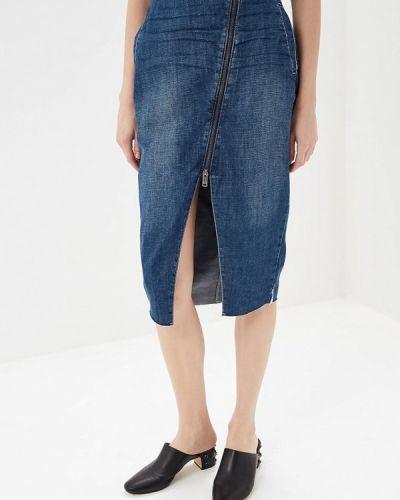 Синяя джинсовая юбка One Teaspoon