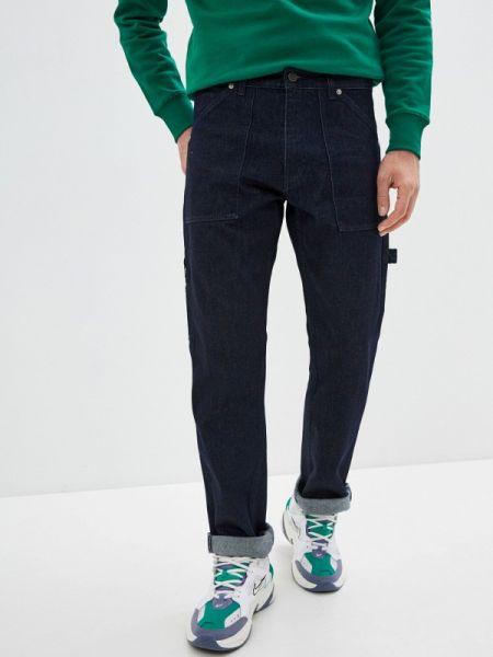 Синие прямые джинсы с жемчугом Rifle