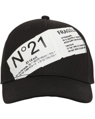 Z paskiem bawełna czarny kapelusz N°21