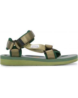 Sandały na platformie - zielone Suicoke