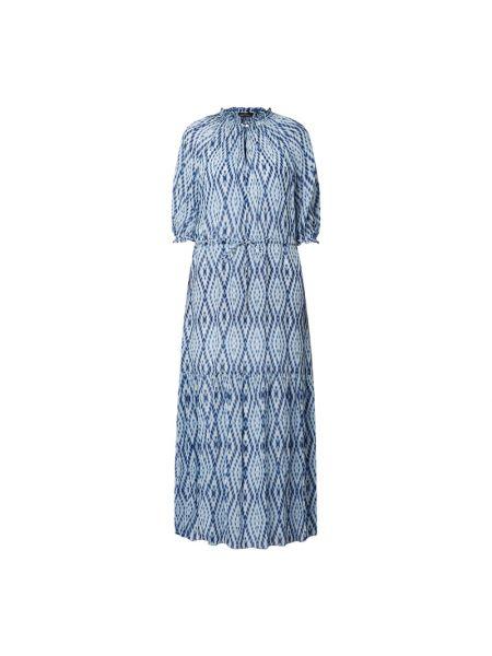Sukienka rozkloszowana z falbanami - niebieska Set