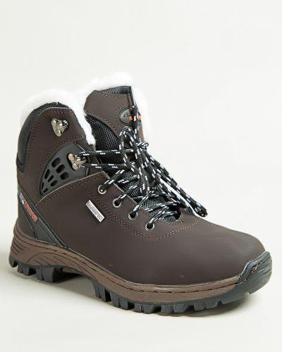 Брендовые коричневые ботинки Saijun