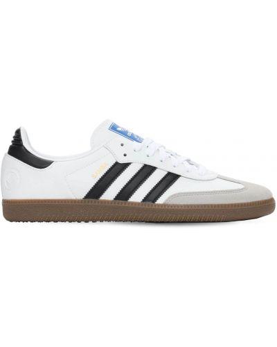 Biały koronkowa sneakersy na sznurowadłach Adidas Originals