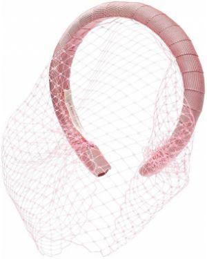 Розовая шелковая вуалетка Jennifer Behr