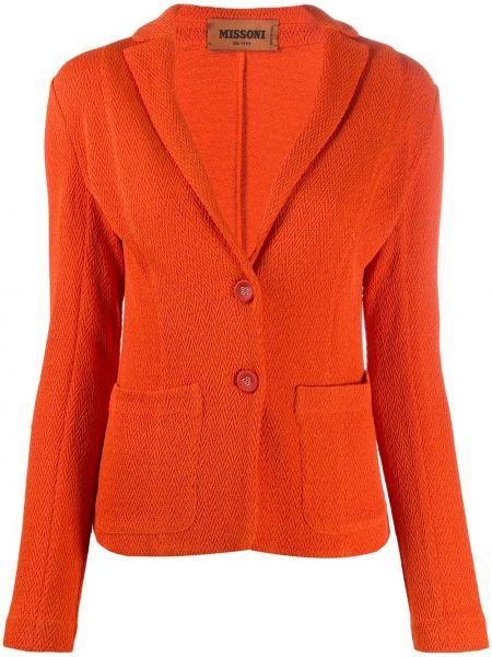Прямой оранжевый пиджак на пуговицах Missoni
