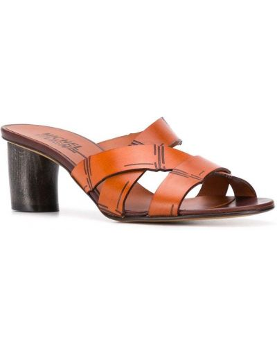 Мюли на каблуке коричневый Michel Vivien