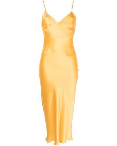 Шелковая ночнушка на бретелях с жемчугом Gilda & Pearl