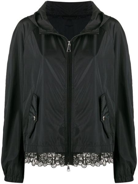 Черная длинная куртка с манжетами с опушкой Ermanno Ermanno