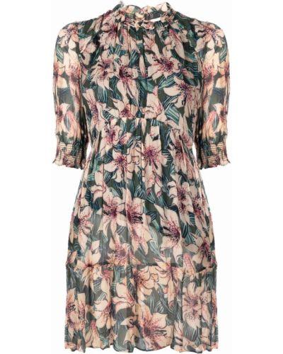 Платье в цветочный принт - зеленое Ba&sh
