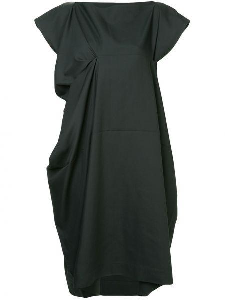 Драповое приталенное платье мини с драпировкой свободного кроя 132 5. Issey Miyake