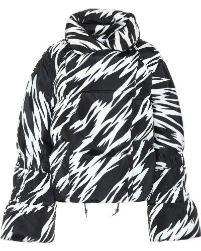 Теплая черная дутая куртка Saks Potts