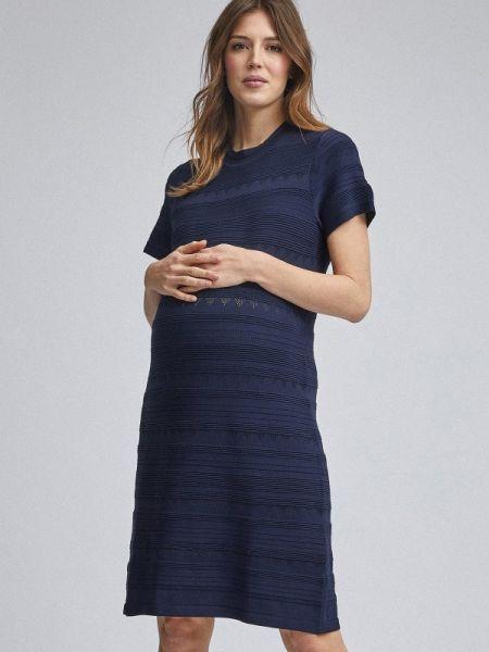 Платье для беременных синее весеннее Dorothy Perkins Maternity