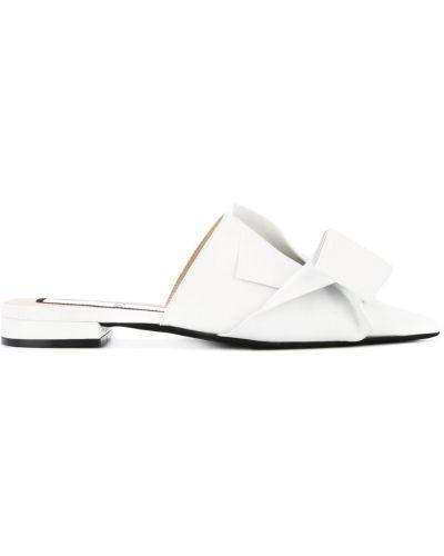 Мюли белый на каблуке N21