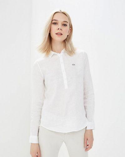 Белая рубашка с длинным рукавом Lacoste