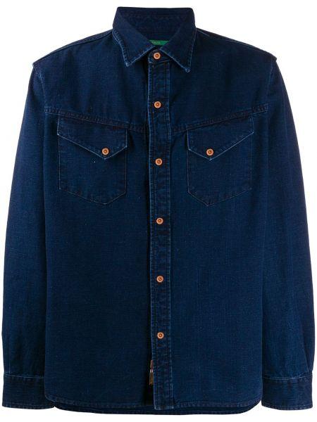 Koszula z długim rękawem klasyczna dżinsowa Hand Picked