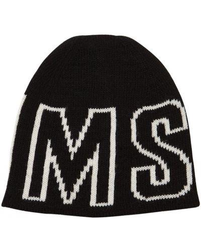 Czarny kapelusz Msgm