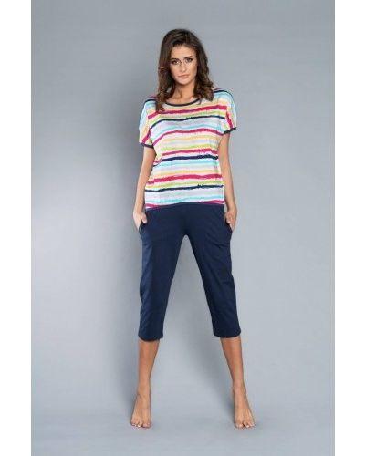 Синяя футболка с короткими рукавами Italian Fashion