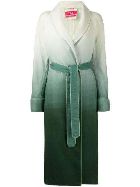 Шерстяное длинное пальто с капюшоном с воротником F.r.s For Restless Sleepers