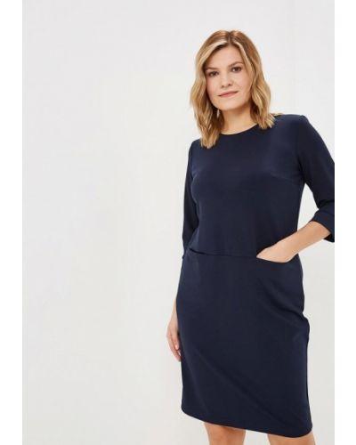 Повседневное платье осеннее синее Sparada