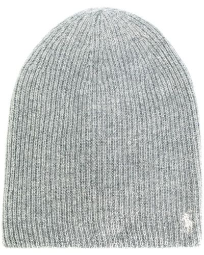 Серая шапка бини Polo Ralph Lauren