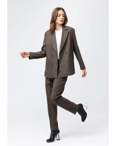 Облегающий коричневый брючный костюм Oks By Oksana Demchenko