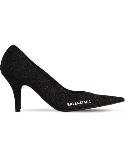 Черные кожаные туфли-лодочки на каблуке Balenciaga