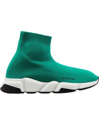 Зеленые текстильные кроссовки с рисунком с подкладкой Balenciaga