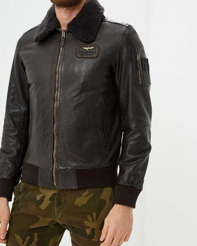 Кожаная куртка осенняя осенний Aeronautica Militare