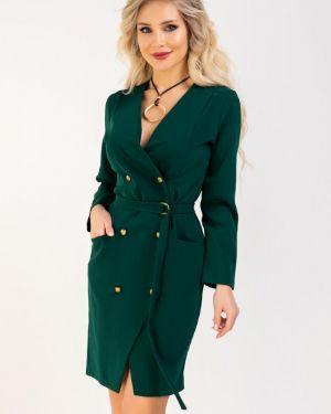 Повседневное платье двубортное с V-образным вырезом Ellcora