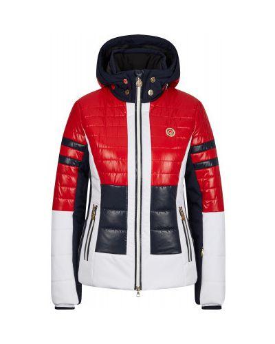 Утепленная красная куртка горнолыжная на молнии Sportalm