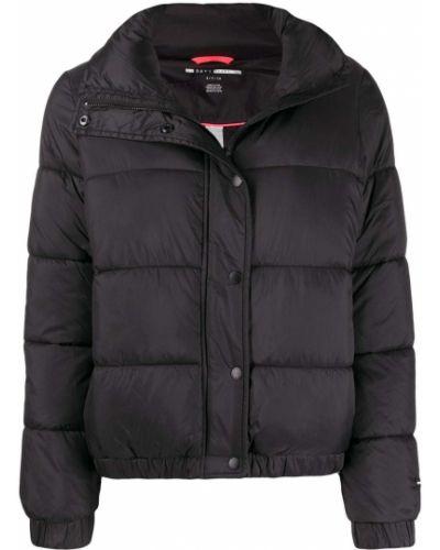 Черная длинная куртка Dkny