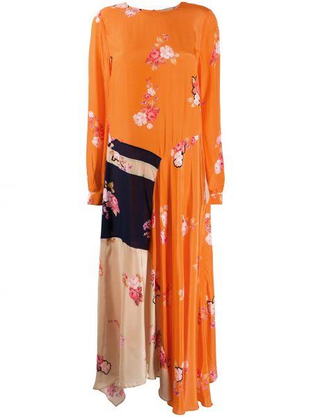 Асимметричное платье макси с капюшоном Preen Line