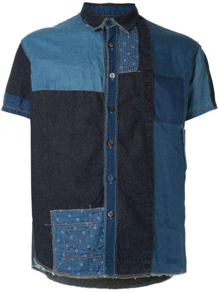 Niebieska koszula jeansowa krótki rękaw bawełniana Kapital