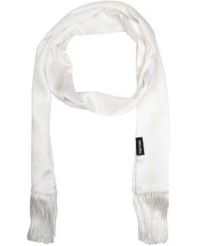 Шарф белый шелковый Tom Ford