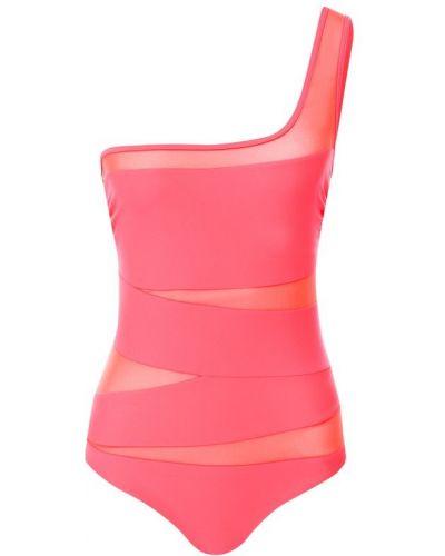 Слитный купальник розовый прозрачный Natayakim