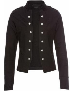 Черный пиджак милитари Bonprix