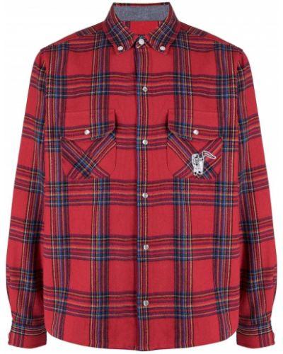 С рукавами красная классическая рубашка в клетку Billionaire Boys Club