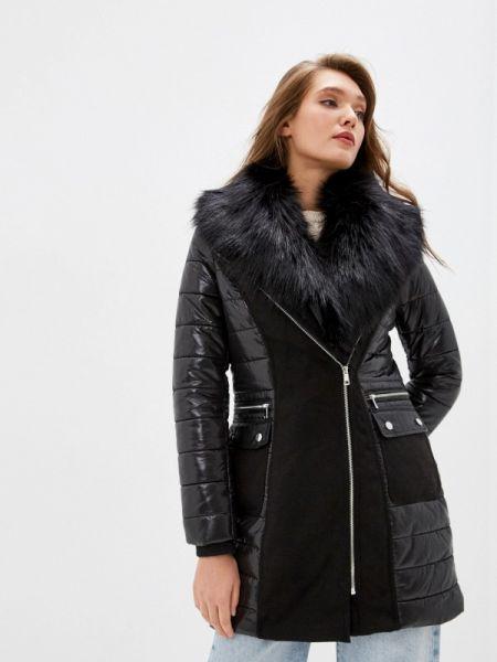 Черная утепленная куртка River Island