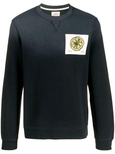 Czarny sweter bawełniany z długimi rękawami Kent & Curwen