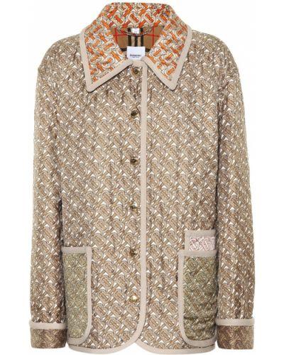 Стеганая куртка леопардовая Burberry